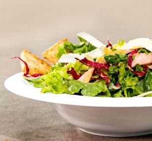 Salad with roasted turkey, orange, kefalotyri & citrus fruit dressing