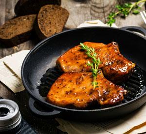 Honey Mustard Glazed Pork Chops
