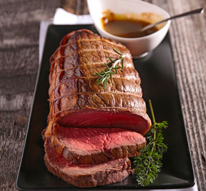 Roast Beef with mustard and caper sauce