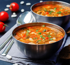 Bean Soup with Spinach