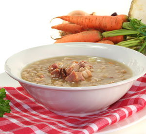 Bean soup with smoked ham shank