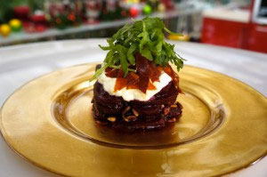 Beetroot Salad with Caramelized Bacon and Yogurt