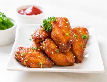 Μαριναρισμένες φτερούγες κοτόπουλου