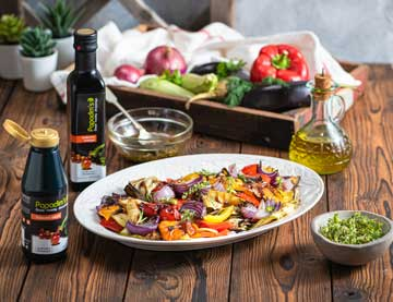 Pečená zelenina s čerstvými bylinkami a balsamico