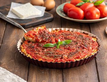 Koláč s rajčaty a fetou